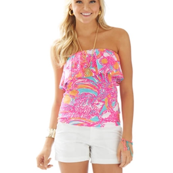d42c48119e Lilly Pulitzer Tops - Lilly Pulitzer Wiley Ruffle Tube Top XL